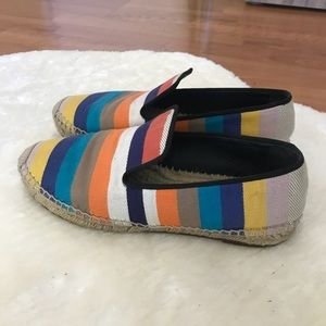 Celine Shoes - Celine Multi Color Canvas Stripe Espadrilles